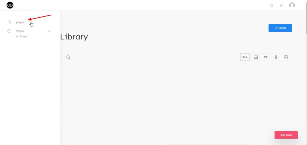admin theme search option