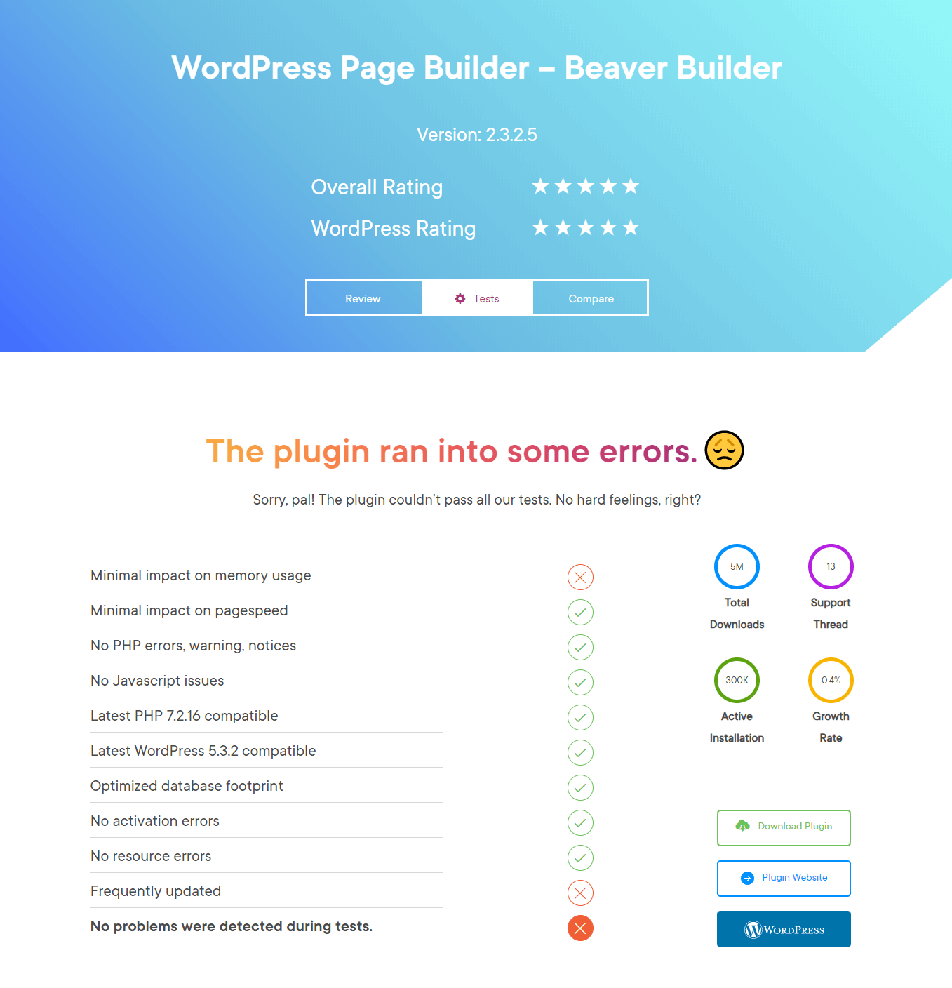Beaver Builder review at a glance