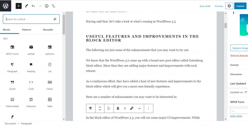 What's New in WordPress 5.5 1