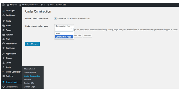 WordPress Under Construction