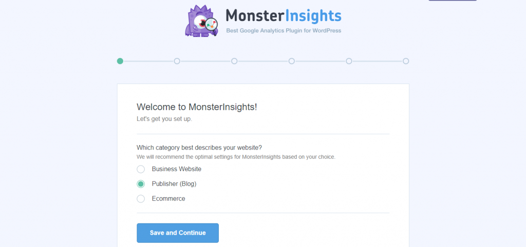 Customize Monsterinsights