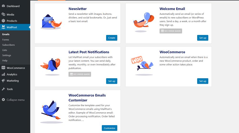 MailPoet-Email-Types