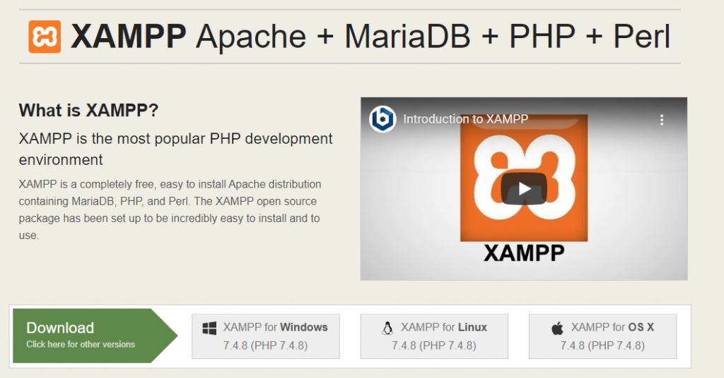 XAMPP WordPress localhost