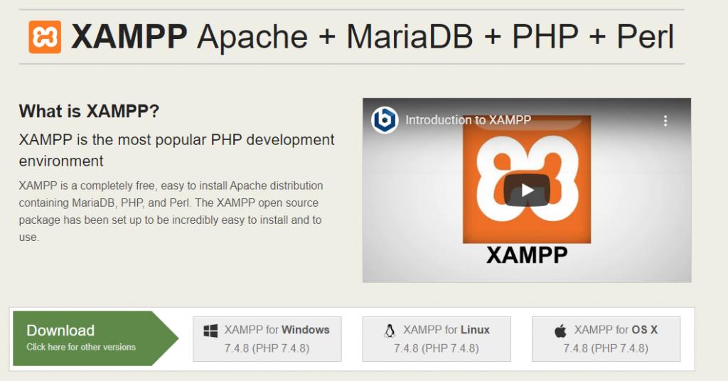XAMPP WordPress localhost