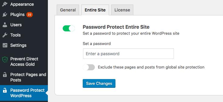 Password Protect WordPress