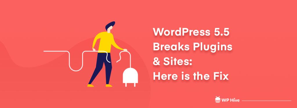 WordPress 5.5 breaks plugins