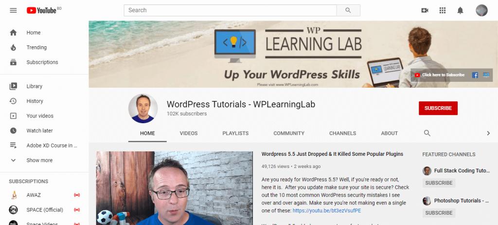 WordPress Tutorials - WPLearningLab