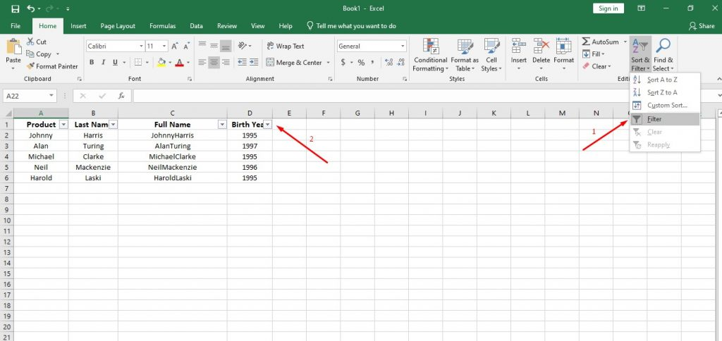How to Use Important Functions of Data Analytics in Excel and Google Sheets 2