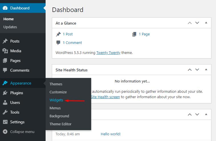 Visit widgets page