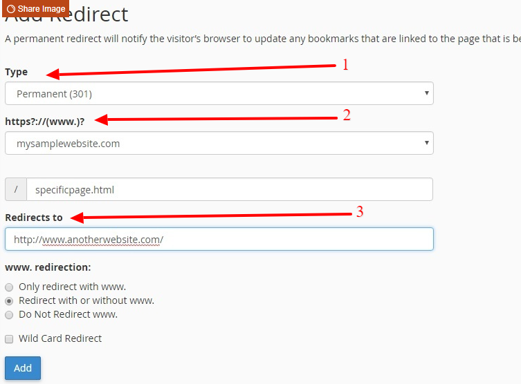 Add redirects