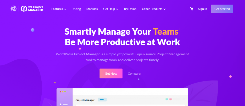 WP Project Manager Deal