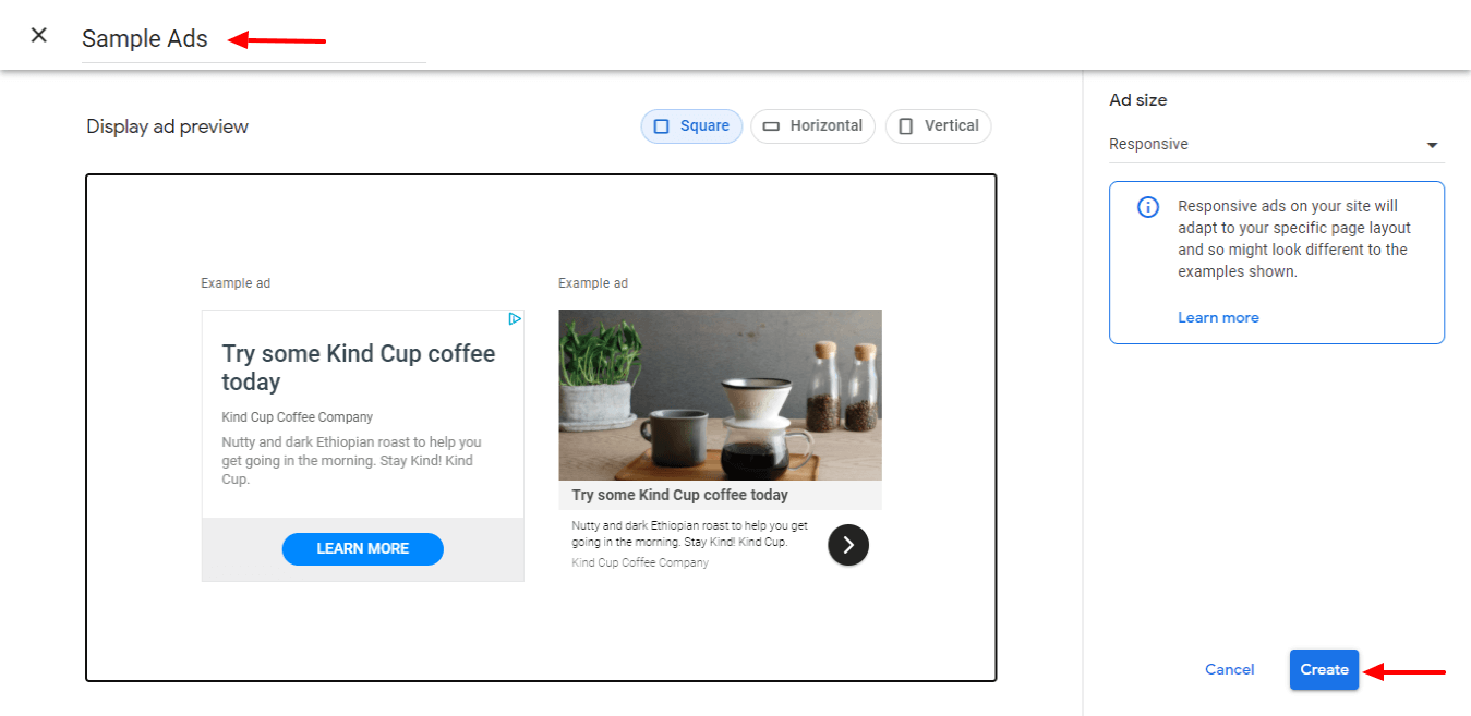 Create First–Google-Ad-Unit