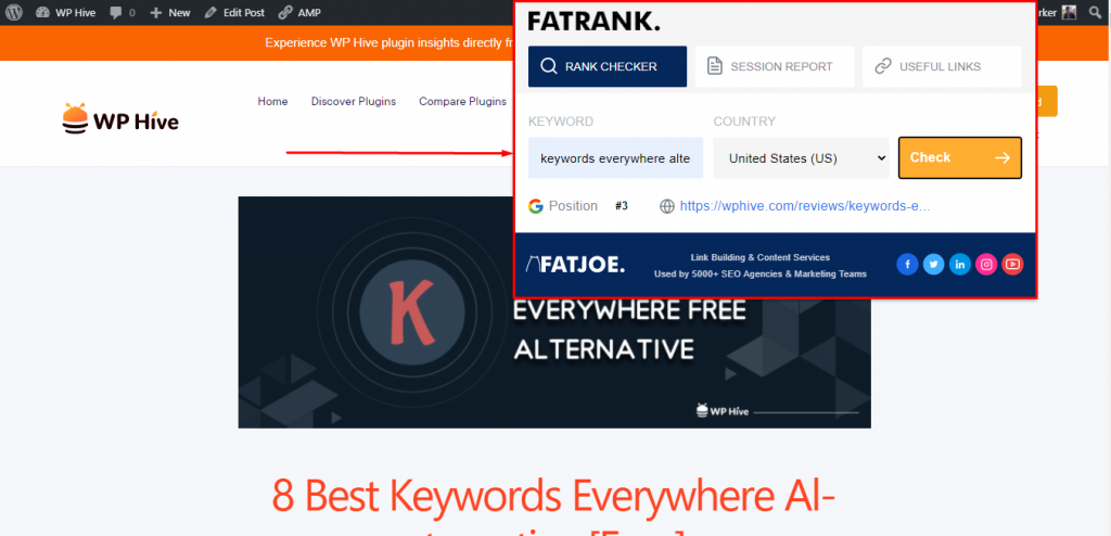 FATRANK Chrome Extension