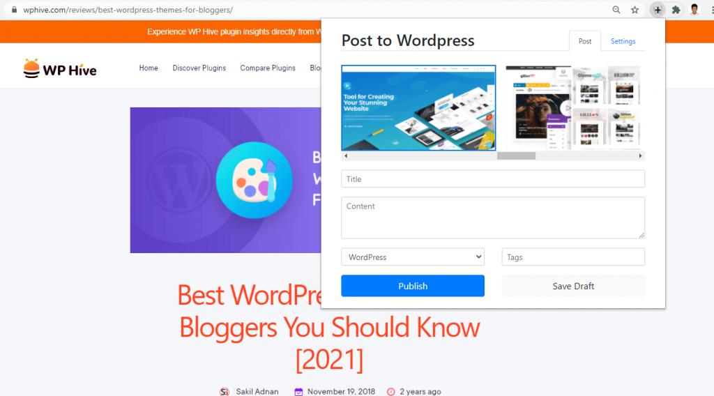 Post to WordPress Chrome Extension