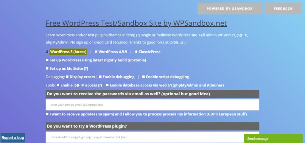 WPSandbox
