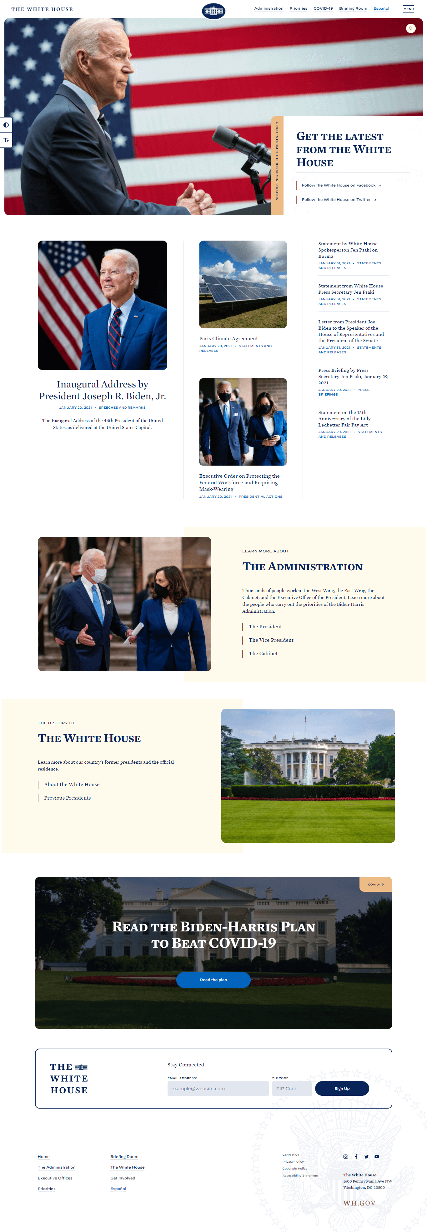 White House Uses WordPress