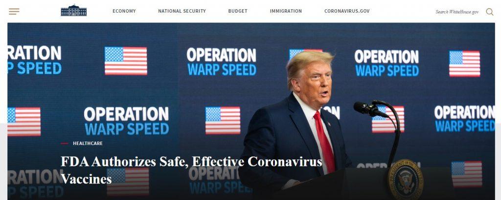 White House Old Website