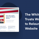 White house uses WordPress