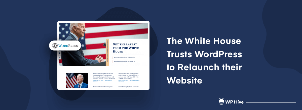 The White House Uses WordPress to Relaunch Their Website (With a Stunning Dark Mode)