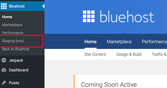How to create a WordPress staging site using Bluehost