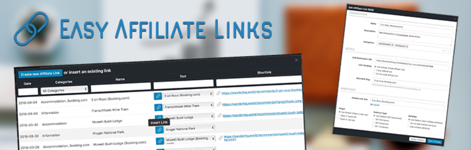 Easy Affiliate Links - WordPress url shortener plugin