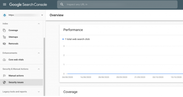 Log in to Google search console