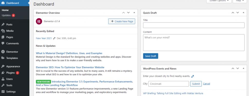 WordPress ease of use