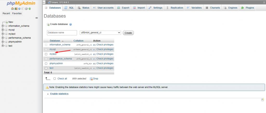 Finding WordPress Database from phpMyAdmin