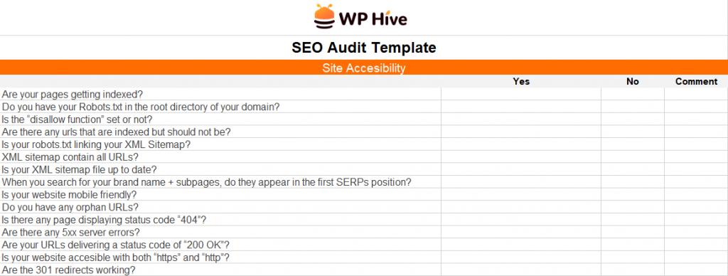 WordPress SEO Audit Template
