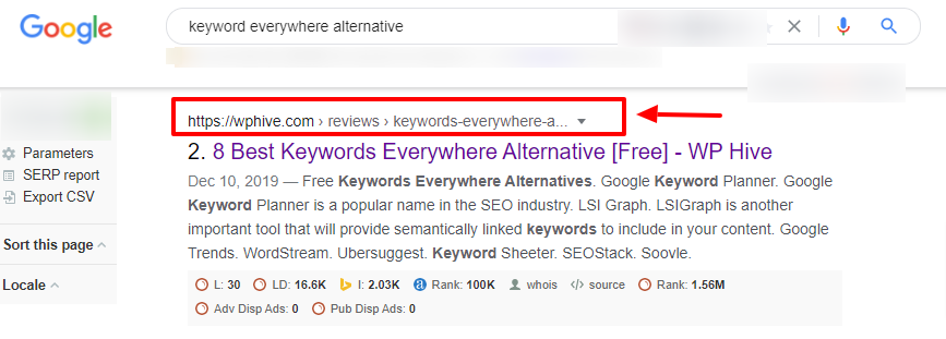 Google like breadcrumbs navigation