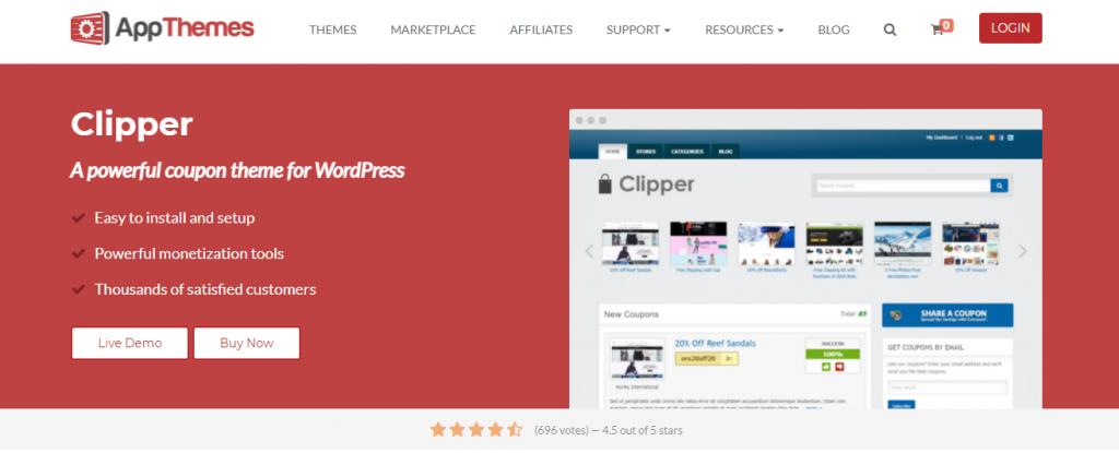 Clipper affiliate theme