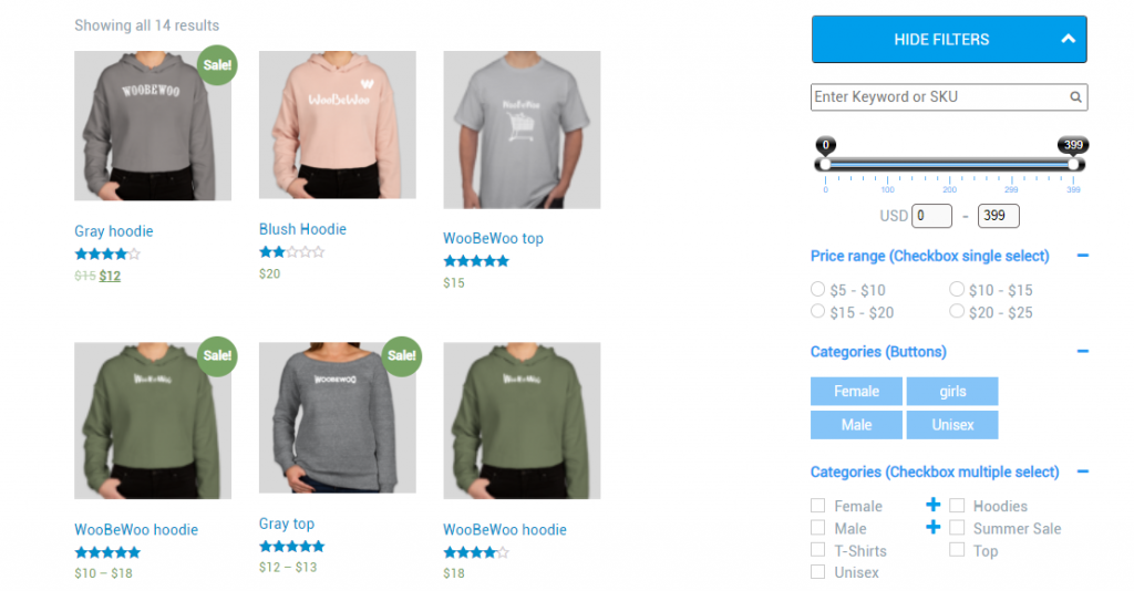 How to Use WooCommerce Product Filter