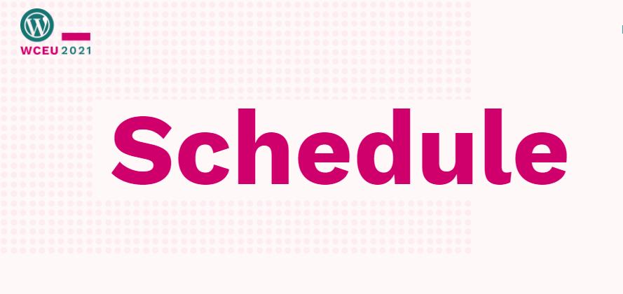 WordCamp Europe 2021 Schedule