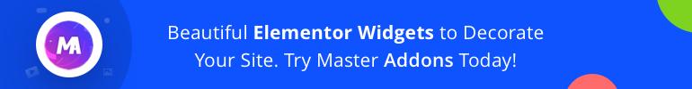 Beautiful Elementor Widgets by Master Addons