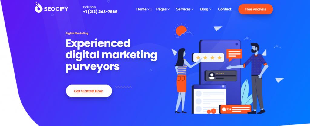Seocify WordPress digital marketing agency theme