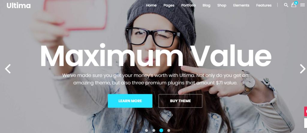 Ultima digital marketing WordPress theme