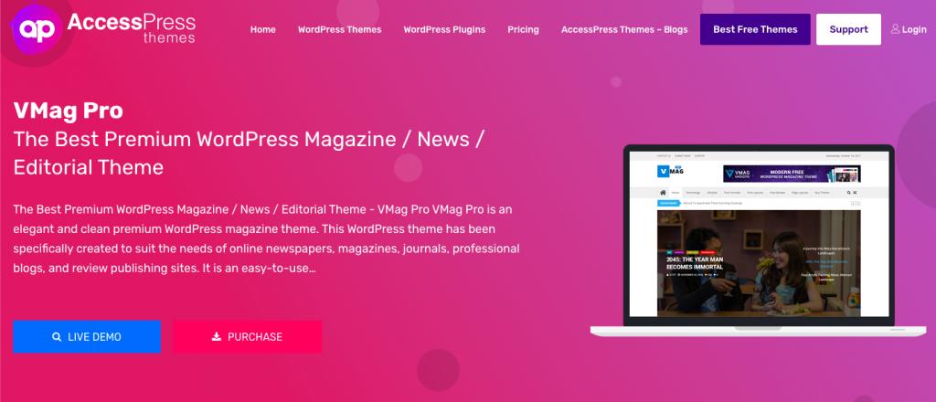 VMag Pro WordPress Theme