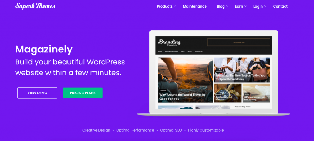 Magazinely WordPress Theme