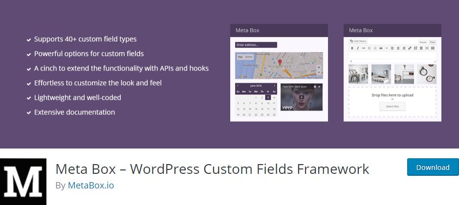WordPress meta box free