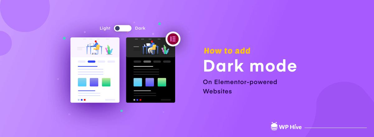 How to add dark mode to Elementor