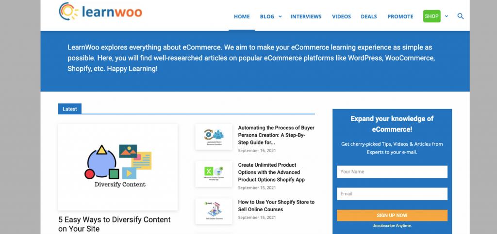LearnWoo WordPress blog to follow