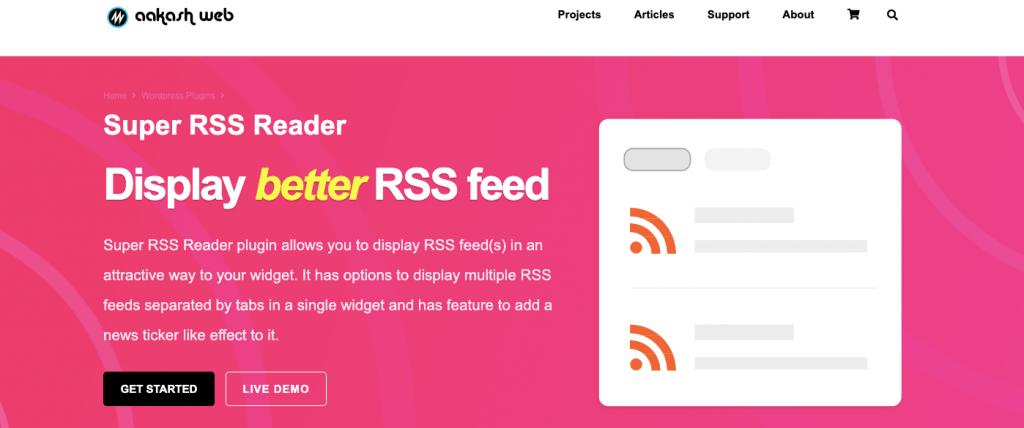 Super RSS feed plugin