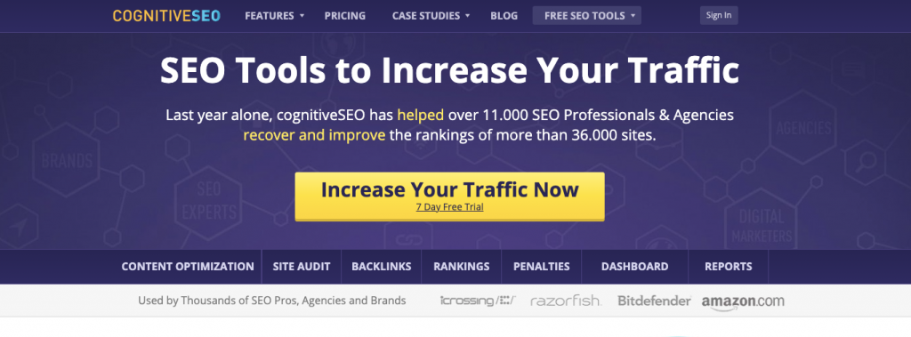 cognitiveSEO link checker tool