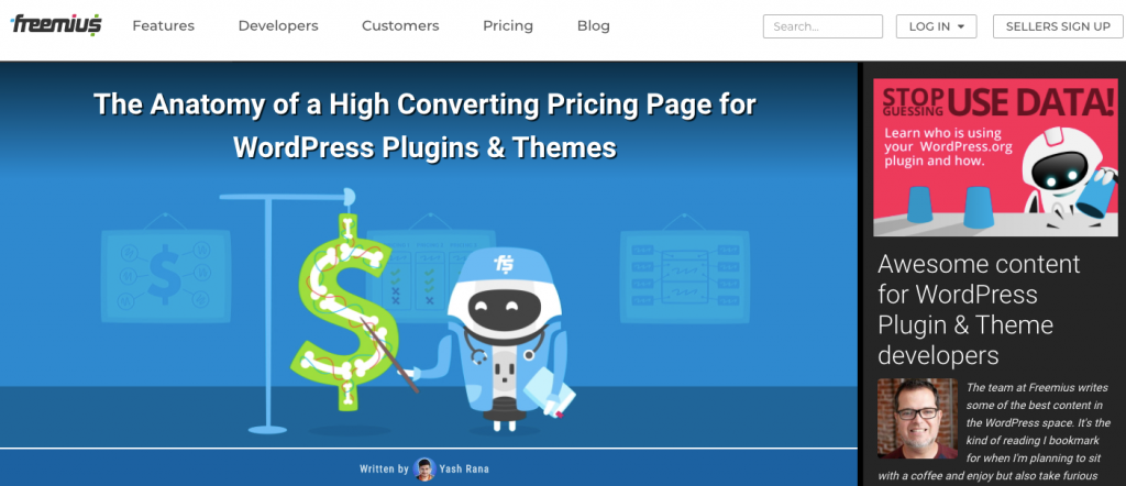 Freemius WordPress blog to follow