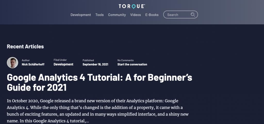 Torque blog