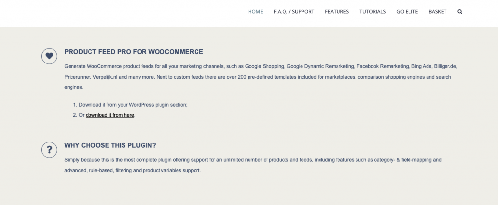 Product feed pro for WooCommerce