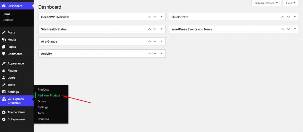 Add New Product using WP Express Checkout
