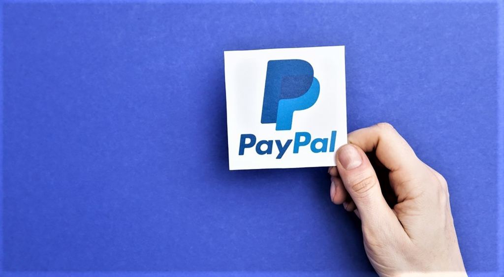 Holding PayPal Logo